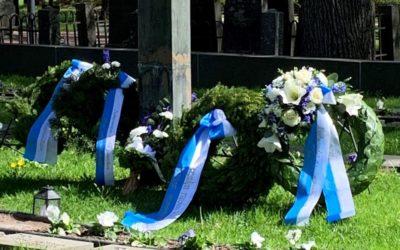 Kaatuneitten muistopäivän seppeltenlasku Vantaalla